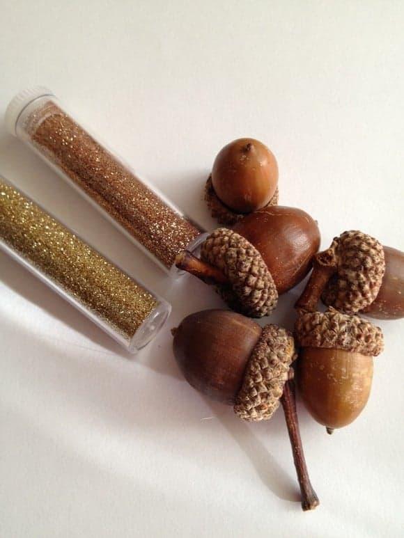 thrifty-thanksgiving-decor-glittered-acorn