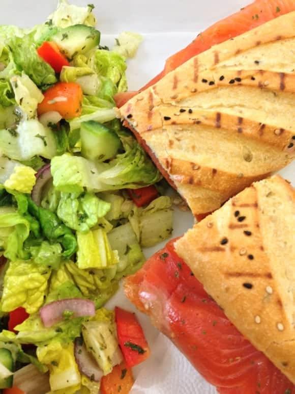 salmon-baguette-sandwich-salad-easy-lunch-recipe