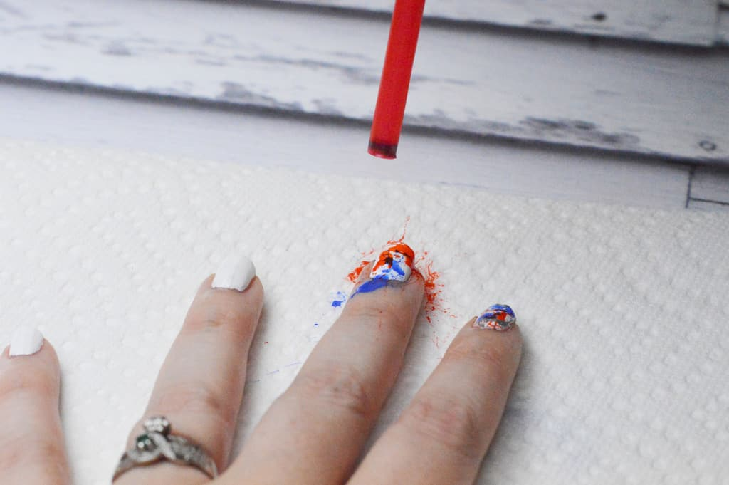Easy Breezy 4th of July Red White and Blue Splatter Nail Art - Our ...
