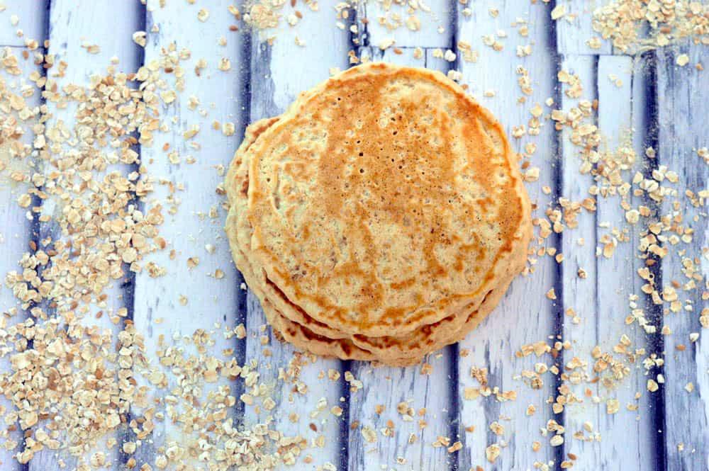 healthy-breakfast-maple-brown-sugar-oat-fit-pancake-recipe